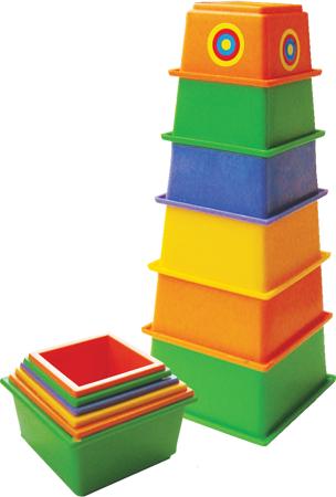 Пирамида ПЛЕЙДОРАДО пирамидка МАЯК 21 см 6 элементов 15012 от Just.ru
