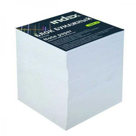 Блок бумажный Index 90х90х90 мм белый I8912/R
