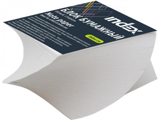 Блок бумажный Index 80х80х40 мм белый IPC884S