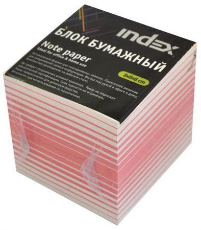Блок бумажный Index 80х80х80 мм белый красный фильм кадеты topic index