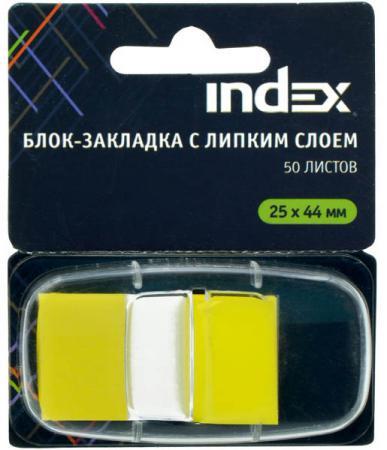 Стикер Index 50 листов 25х44 мм желтый I464801 фильм кадеты topic index