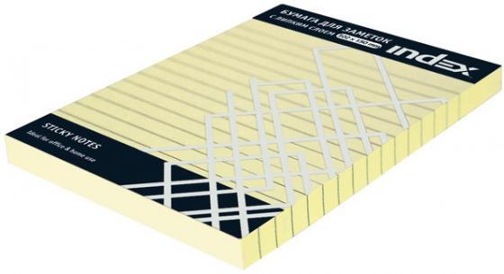 Бумага для заметок разлинованная с липким слоем, 100 листов, 102х150 мм, желтая I437808
