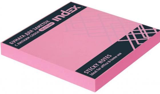 Бумага для заметок с липким слоем, 100 листов, 76х75 мм, неоновая цикламен I453806