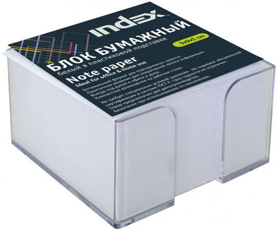 Блок бумажный Index 90х90х55 мм белый I9906/R фильм кадеты topic index