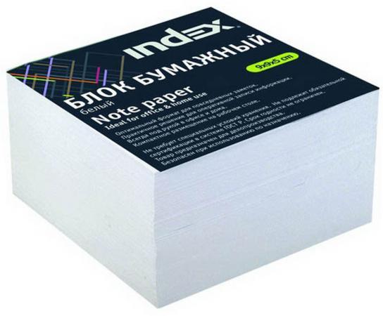 Блок бумажный Index 90х90х50 мм белый I9906p/N/R