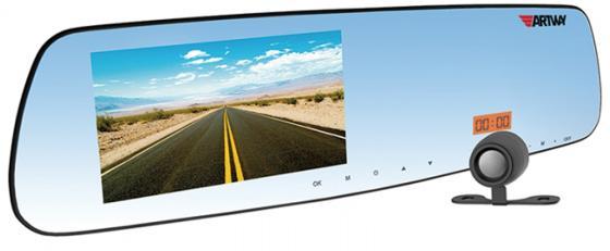Видеорегистратор Artway MD-160 2 камеры/радар-детектор/GPS-информатор/помощь при парковке/зеркало видеорегистратор зеркало autoluxe 2 камеры 720p hd 1280 720