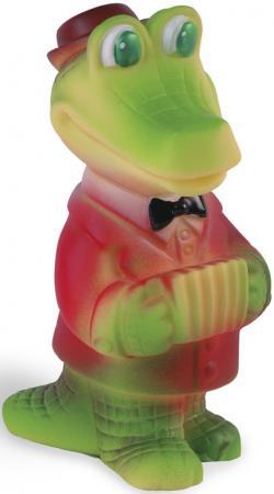 Резиновая игрушка для ванны Огонек Крокодил-гармонист 16 см С-1182 россия скульптура кот гармонист