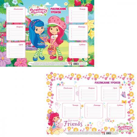 Расписание уроков ACTION! STRAWBERRY SHORTCAKE, ф. А4 SWTT-4 strawberry print pencil case