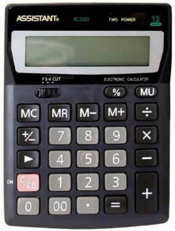 Калькулятор настольный Assistant AC-2303 12-разрядный AC-2303 калькулятор assistant ac 2329 12 разрядный цвет желтый