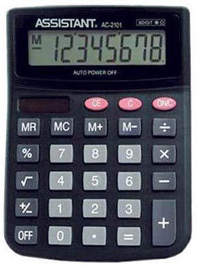 Калькулятор настольный Assistant AC-2101 8-разрядный AC-2101 калькулятор assistant ac 1191 8 разрядный цвет серебристый
