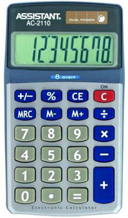 Калькулятор настольный Assistant AC-2110 8-разрядный  AC-2110 assistant assistant ah 1053 black