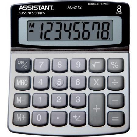 Калькулятор настольный Assistant AC-2112 8-разрядный серебристый калькулятор assistant ac 1191 8 разрядный цвет серебристый