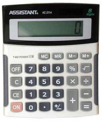 Калькулятор настольный Assistant AC-2114 8-разрядный AC-2114 калькулятор assistant ac 2341 настольный в коробке