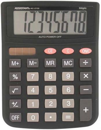 Калькулятор настольный Assistant AC-2132 8-разрядный AC-2132 калькулятор assistant ac 1193 8 разрядный цвет зеленый