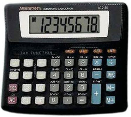 Калькулятор настольный Assistant AC-2190 8-разрядный assistant assistant ah 1053 black