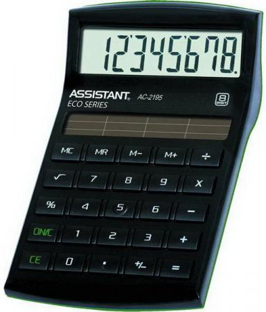 Калькулятор настольный Assistant AC-2195eco 8-разрядный AC-2195eco калькулятор настольный assistant ac 2112 8 разрядный ac 2112