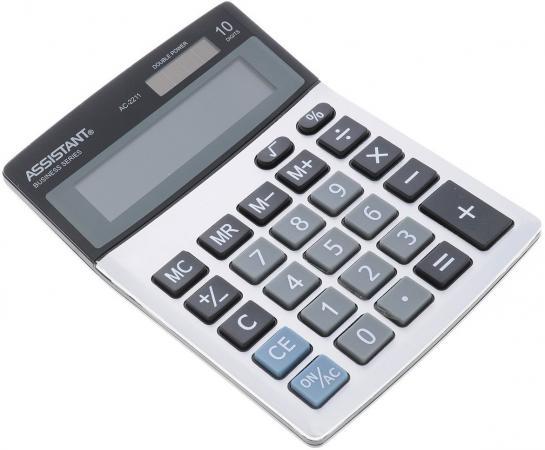 Калькулятор настольный Assistant AC-2211 10-разрядный ideal e 4867