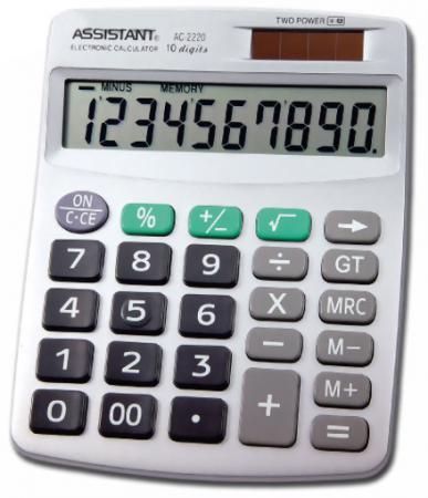 Калькулятор настольный Assistant AC-2220 10-разрядный assistant assistant ah 1053 black