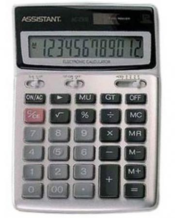 Калькулятор настольный Assistant AC-2306 12-разрядный калькулятор настольный assistant ac 2132 8 разрядный ac 2132
