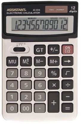 Калькулятор настольный Assistant AC-2316 12-разрядный AC-2316 калькулятор assistant ac 2341 настольный в коробке