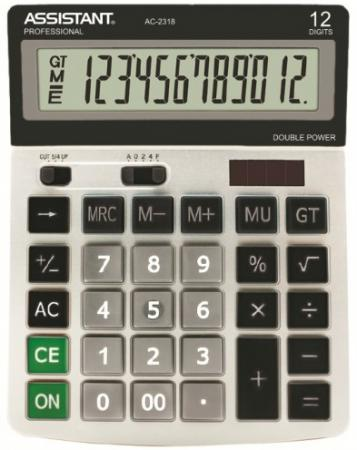 Калькулятор настольный Assistant AC-2318 12-разрядный  AC-2318 калькулятор настольный assistant 12 разрядный ac 2321