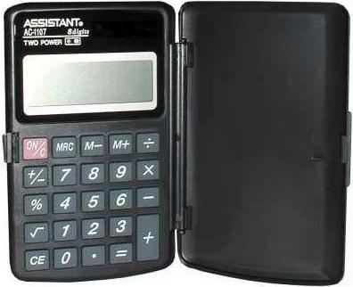 Калькулятор карманный Assistant AC-1107 8-разрядный черный калькулятор настольный assistant ac 2132 8 разрядный ac 2132
