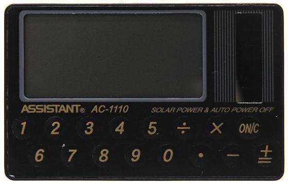 Калькулятор карманный Assistant AC-1110 8-разрядный калькулятор assistant ac 1127 8 разрядный