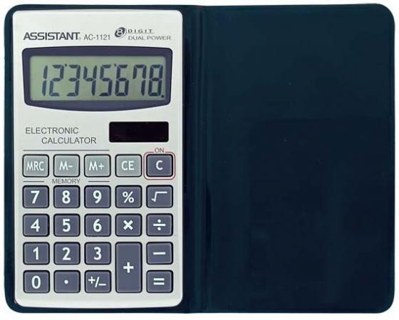 Калькулятор карманный Assistant AC-1121 8-разрядный assistant assistant ah 1053 black