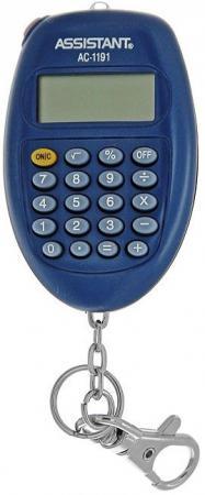 Калькулятор карманный Assistant AC-1191BL 8-разрядный  AC-1191BL калькулятор assistant ac 1191 8 разрядный цвет серебристый