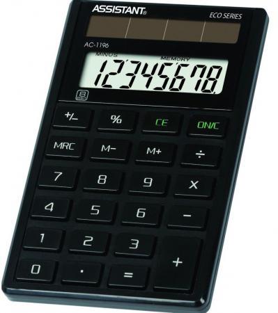 Калькулятор карманный Assistant AC-1196eco 8-разрядный черный assistant assistant ah 1053 black