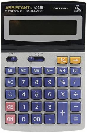 Фото - Калькулятор настольный Assistant AC-2319 12-разрядный калькулятор инженерный assistant 10 2 разрядный 228 функций