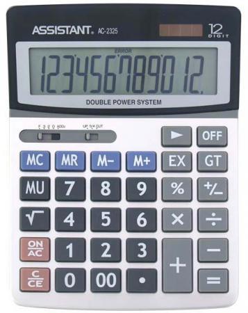 все цены на  Калькулятор настольный Assistant AC-2325 12-разрядный  AC-2325