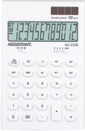 Калькулятор настольный Assistant AC-2329 12-разрядный калькулятор assistant ac 2329 12 разрядный цвет желтый