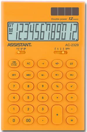 Калькулятор настольный Assistant AC-2329 12-разрядный калькулятор настольный assistant 12 разрядный ac 2321