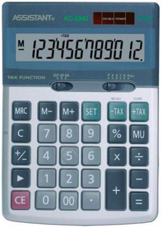 Калькулятор настольный Assistant AC-2340 12-разрядный калькулятор настольный assistant 12 разрядный ac 2321