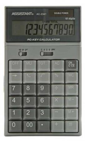 Калькулятор настольный Assistant AC-2341 12-разрядный калькулятор настольный assistant ac 2341 12 разрядный ac 2341