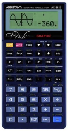 Калькулятор научный Assistant АС-3612 10+2-разрядный черный калькулятор настольный assistant ac 2132 8 разрядный ac 2132