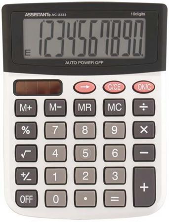 Калькулятор 12-разр., двойное питание, металл. панель, большой дисплей, вычис. %, разм.146х103х32 мм AC-2333 калькулятор 12 разр дв питание дв память черный пластик большой дисплей разм 206х155х35 мм a