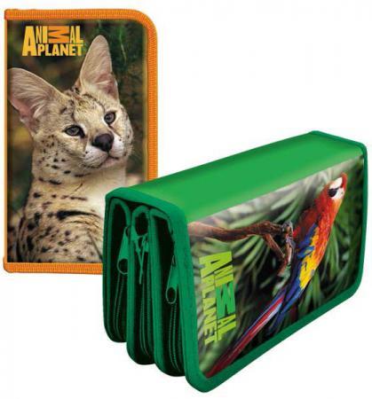Пенал на три отделения Action! Animal Planet AP-PC03-02 в ассортименте альбом для рисования action animal planet на гребне 40 листов в ассортименте