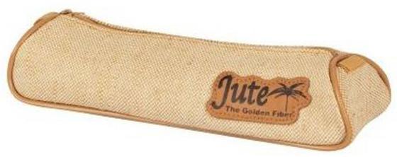 Пенал-тубус на молнии JUTE, размер: 21.5 x 7.5 4.5 cm без наполнения, 1 отделение, джут 11035/TG