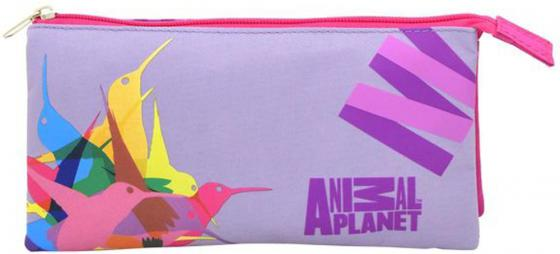 Пенал-косметичка ANIMAL PLANET Колибри, 3 отд., 2 молнии, без наполн, разм. 21х10 см, для девочек AP-APC4216/1/15