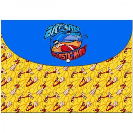 Папка-конверт на кнопке ACTION! /Бэтмен: отважный и смелый/, 0,2мм, А4, ассорти BA-APF305 папка на кнопке comix цвет фиолетовый