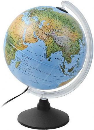 Глобус ELITE с двойной картой, диаметр 25 см, новая карта, подсветка, пласт. подставка и меридиан 0325EL/new цена 2017