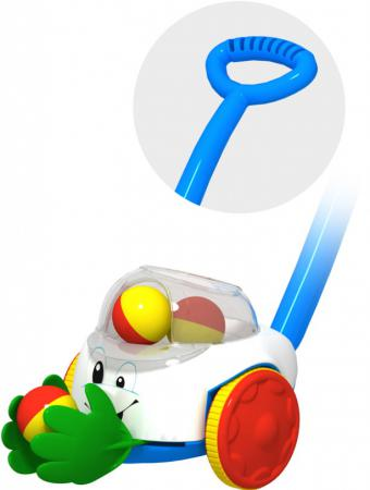 Каталка на палочке Огонек Каталка Ладошки пластик от 1 года с ручкой разноцветный 1381 каталка огонек шарик