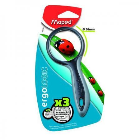 Лупа ERGOLOGIC 3х- кратная, эргономичная обрезиненная ручка,50мм лупа kenko 3х 4 5х 60 мм pkc 022