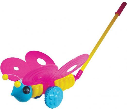 Каталка на палочке Плэйдорадо Бабочка пластик от 1 года с ручкой разноцветный 12001 каталка на палочке karolina toys колесо пластик от 1 года разноцветный 40 0032