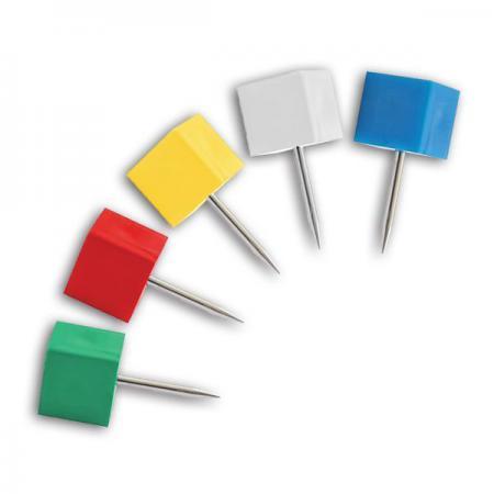 Кнопки силовые ?Куб?, 18 мм, 50 шт, в банке ISP1018 кнопки office point декоративные 60 шт