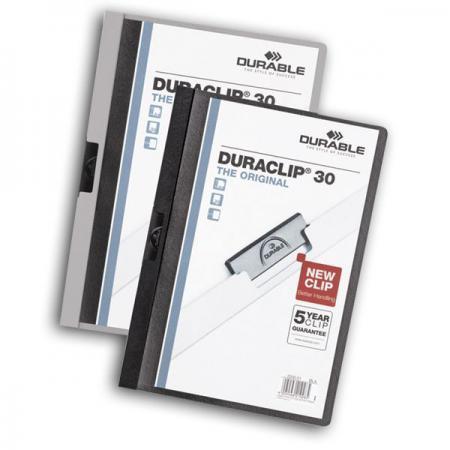 Фото - Папка DURACLIP ORIGINAL 30 с клипом, верхний лист прозрачный, белая, на 30 листов папка duraclip original 30 с клипом верхний лист прозрачный серая на 30 листов