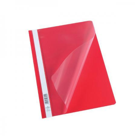 Папка-скоросшиватель, красная, ф. А4, штрих-код все цены