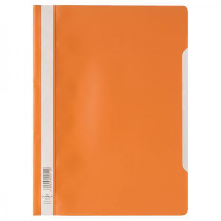 Папка-скоросшиватель, оранжевая, ф. А4, штрих-код все цены